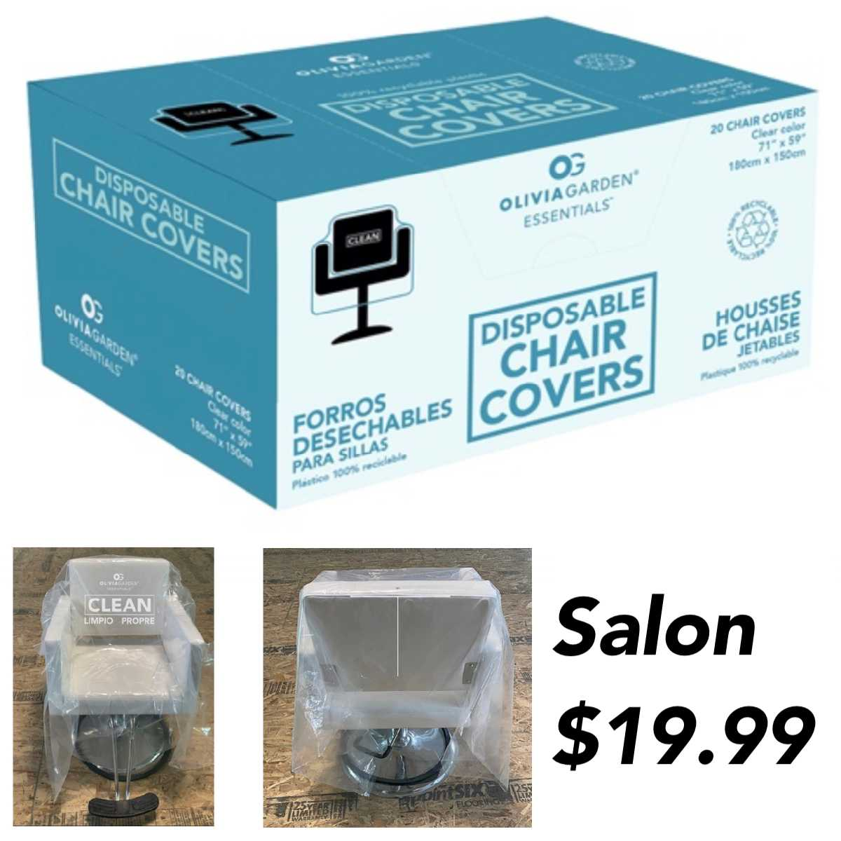 Disposable Chair Covers 25 Pack Preorder Sullivan Beauty